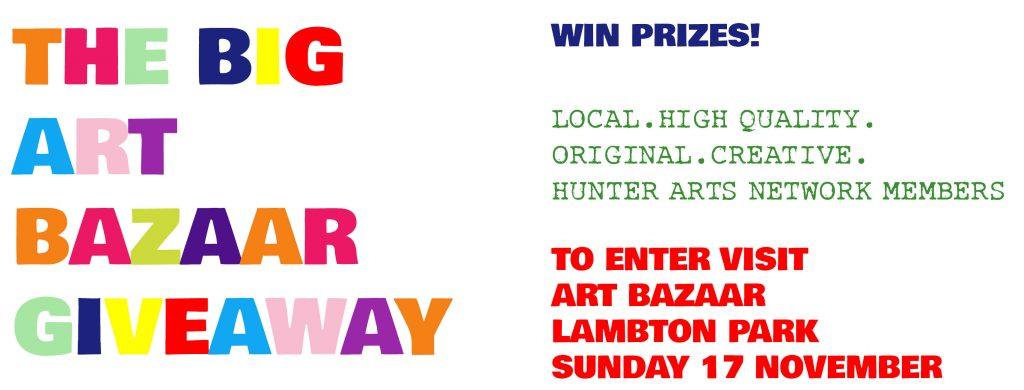 The Big Art Bazaar Giveaway at Hunter Arts Network Art Bazaar Lambton Park 17 November 2019
