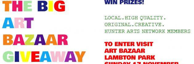 Win prizes by Hunter Arts Network members at Art Bazaar Lambton Park on 17 November 2019