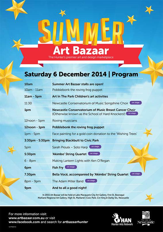 Summer Art Bazaar 2014 Program