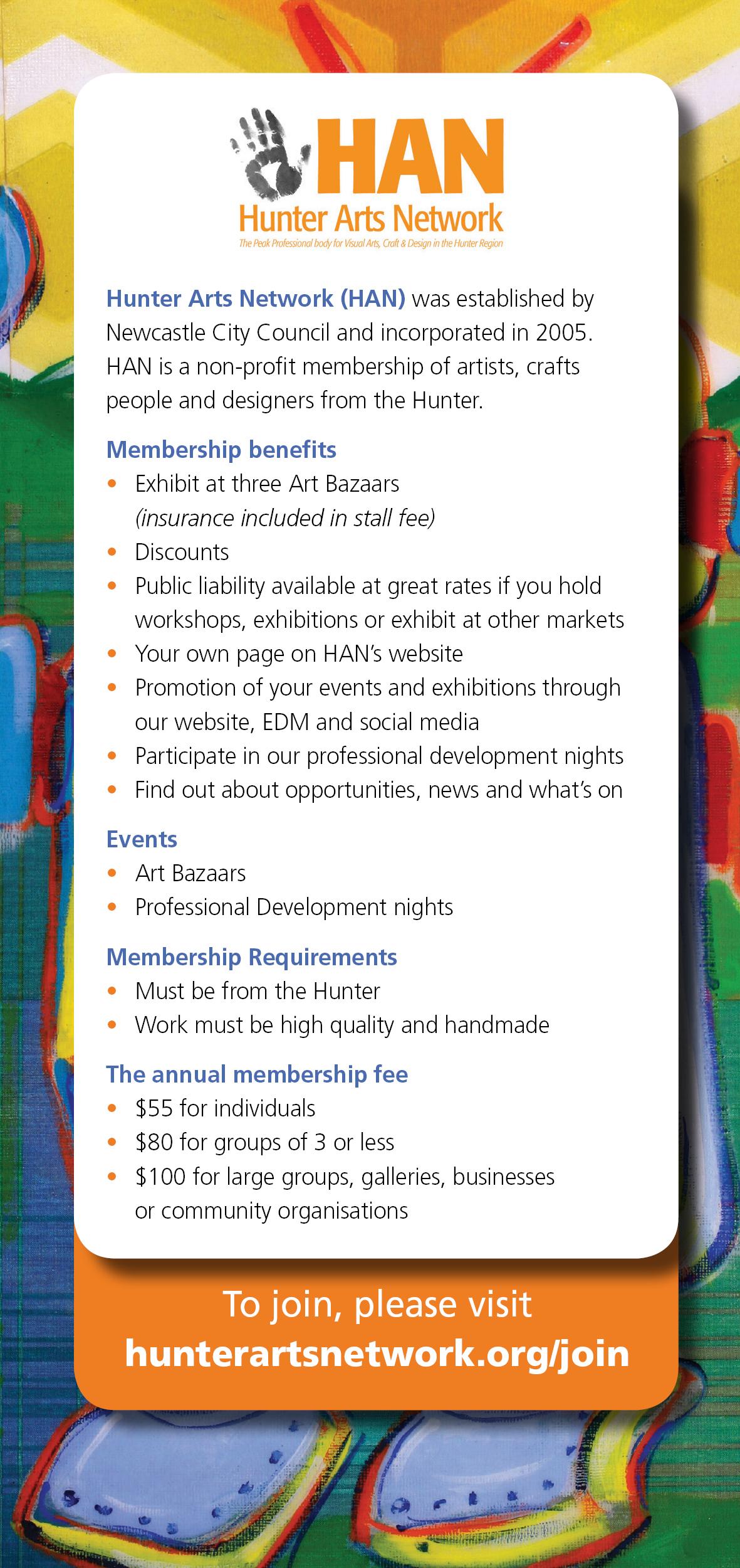 Join Hunter Arts Network! | Hunter Arts Network