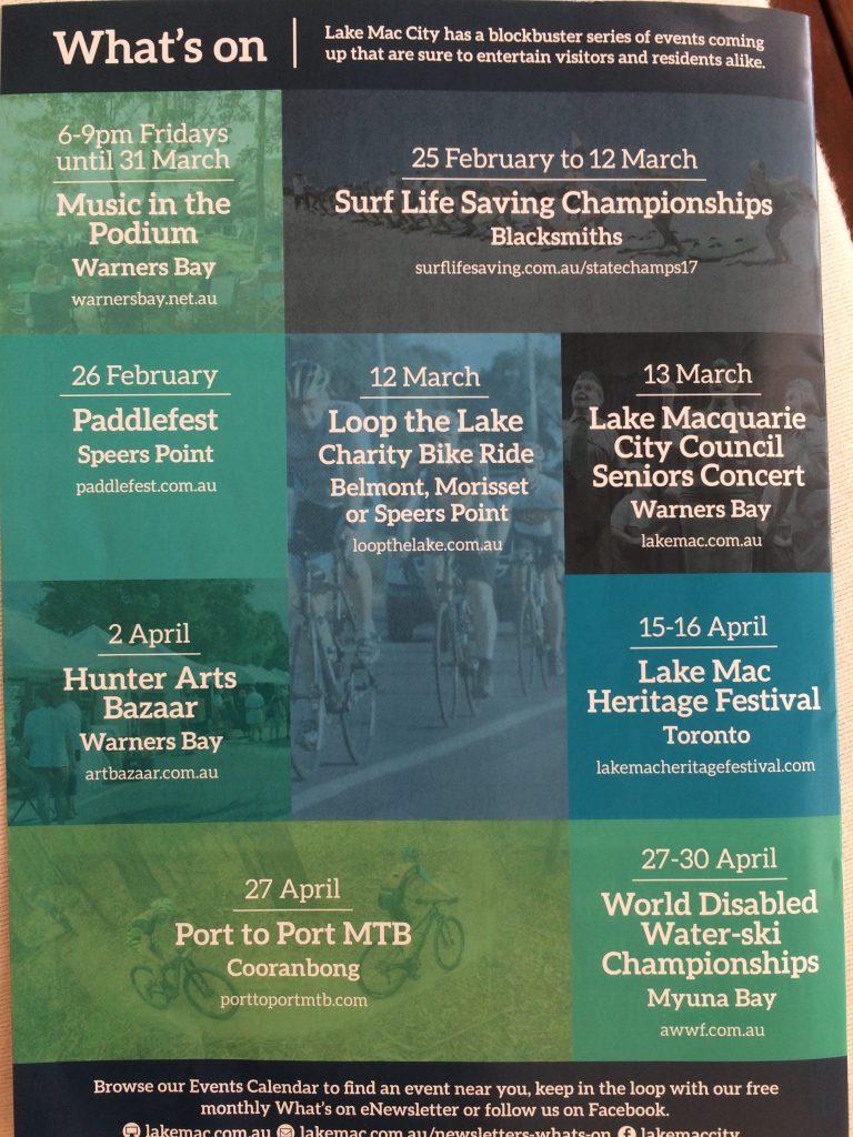 Art Bazaar Warners Bay Lake Macquarie You City back cover