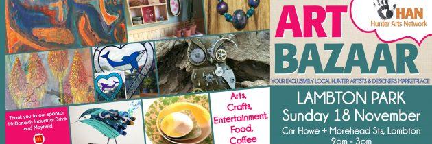 Call for stallholders for Art Bazaar Lambton Park Sunday 18 November 2018