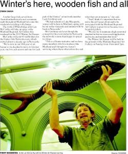Winter Art Bazaar editorial in Maitland Mercury June 2012
