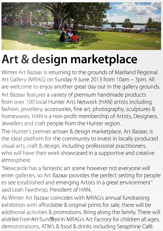 Winter Art Bazaar monthly imag June 2013
