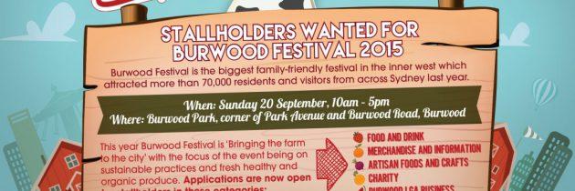 Stallholders wanted for Burwood Festival 2015