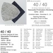 Newcastle Printmakers Workshop invites everyone to attend their 40/40 exhibition at Art Systems Wickham