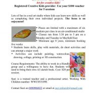 ZGLINICKI ART STUDIO Registered Creative Kids provider