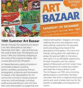 Summer Art Bazaar editorial in monthly imag 2012