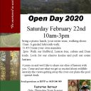 Open Day 2020 at Fosterton Retreat on Saturday 22 February 10am – 3pm